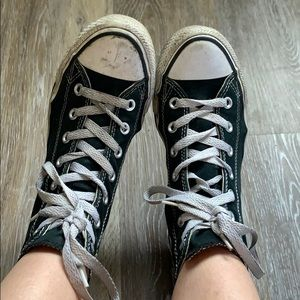 Well Worn Black Converse